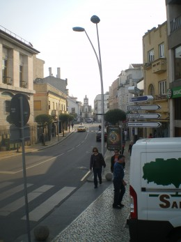 Walking around town