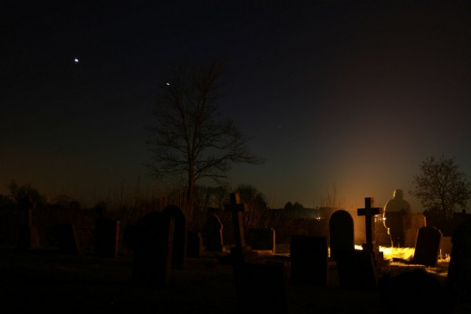 Thank you, Olga for sharing this amazing capture of a cemetery on a winter night. It just fits my poem perfectly.