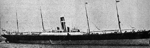 SS Montrose, subsequently sank in 1914