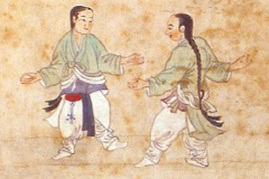 Korean Traditional Martial Arts, wall painting of 1846.