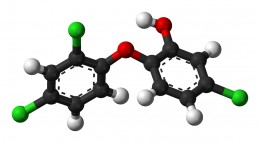 Model of the triclosan molecule