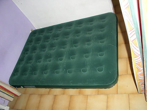 A dirty air mattress in the basement is not the way to welcome an overnight guest.