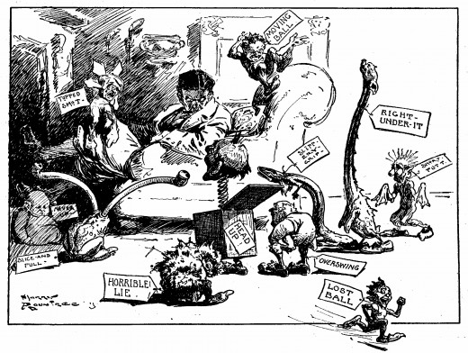 Old political cartoon (public domain)