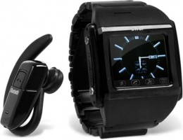 A cell phone watch.