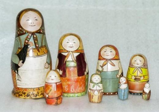 The first original Matryoshka  (Babushka) Doll  1892