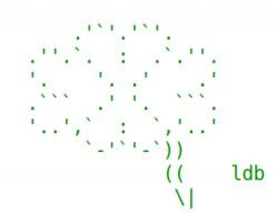 Good Luck ASCII Text Art: Lucky Clover and Horseshoes