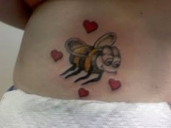 Cool Bee Tattoo Designs