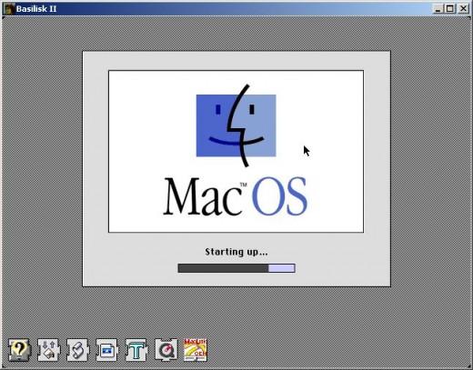 Basilisk II booting Mac OS 7.5.5