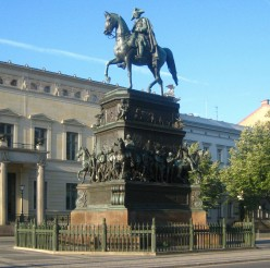 Equestrian statue of King Frederick II of Prussia, in Unter den Linden Boulevard, Central Berlin
