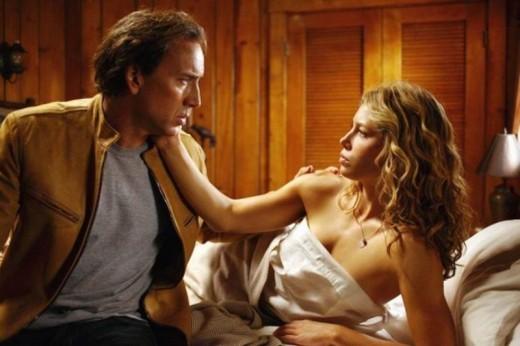 Nicolas Cage and Jessica Biel in Next (2007)