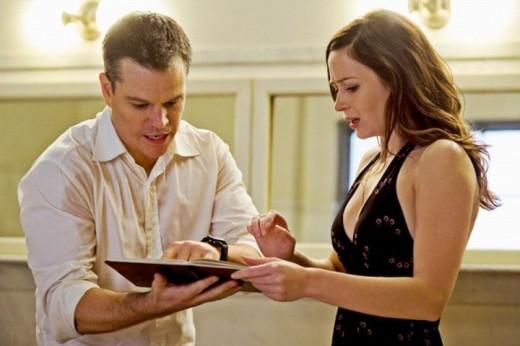 Matt Damon and Emily Blunt in The Adjustment Bureau (2011)