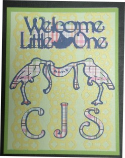 Easy to Make Card for a New Baby with your Cricut Machine and Stamping Punch
