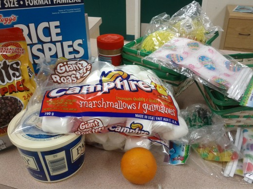 Getting Started - check your cupboards for Ingredients and pick up Easter Decorations from the dollar store.