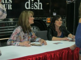 Two of the hostesses of GAC television shows, Suzanne Alexander and Nan Kelley.