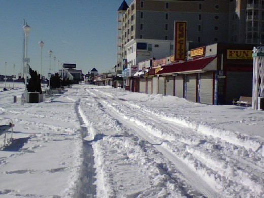 Ocean City Maryland 2011 - Snow Covered