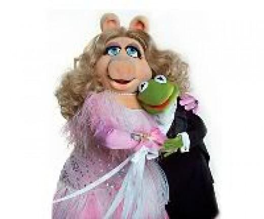 Kermit & Miss Piggy -- my favorite Muppets