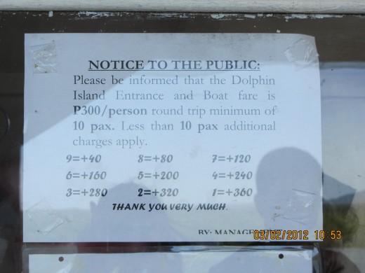 Dolphin Island boat rates