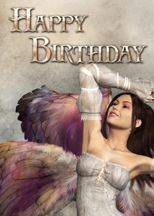 Birthday Card Pictures3 - Angel