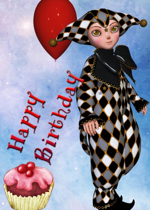 Birthday Card Pictures1 - Clown