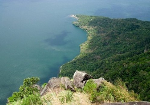 The amazing view from the top of mountain touching the Taal Lake