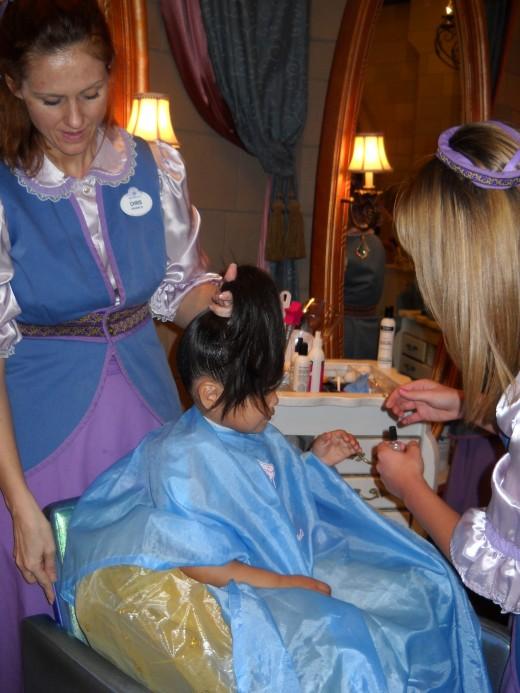 Princess make over at Bibbidi Bobbidi Boutique