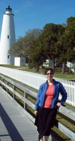A picture of me standing at the Ocracoke Lighthouse Station.