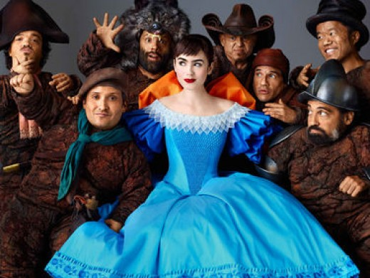 Snow White with her acrobatic dwarves