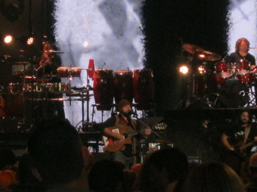 The Zac Brown Band performing at the ACM Fan Jam on Sunday, April 1, 2012.