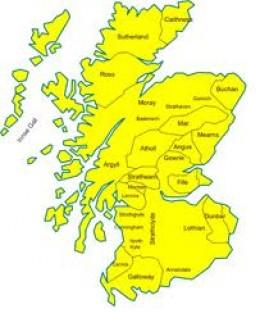 Modern Regions of Scotland - pre-1974