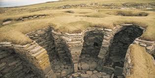 The Jarlshof on Shetland at Sumburgh Head, remains of the Jarl's (earl's) garth or fortified household