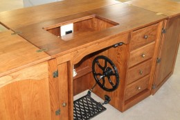 Cabinet Style treadle sewing machine cabinets