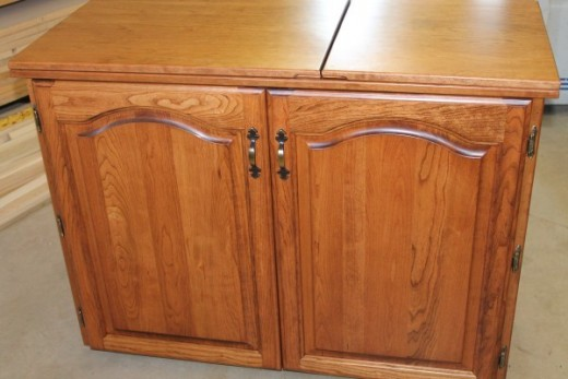 Cabinet when folded looks like furniture cabinet.