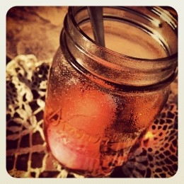pink dye & jar