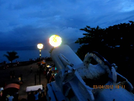 The small and antique canon facing the Ozamiz Bay