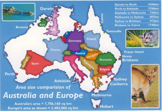 Just to give you an idea how big Australia is