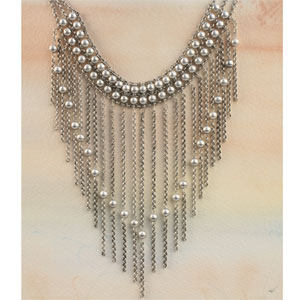 A bold piece like this necklace can be worn with a simple, black outfit or even a t-shirt and jeans.