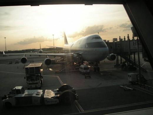 The B747-400 that operated this Cathay Pacific flight between Bangkok and Hong Kong