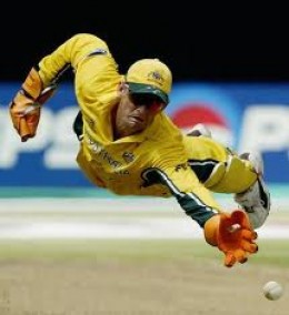 Adam Gilchrist is a  great hitter of the ball