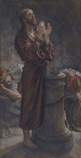 Jesus Imprisoned before his death.