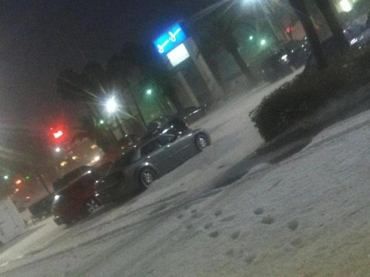 Hail Storm in McAllen, TX March 29, 2012