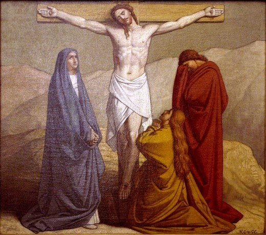 Jesus, on the cross.