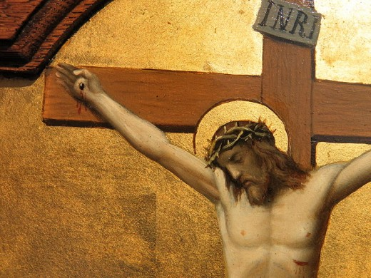 Jesus, dying on the cross.