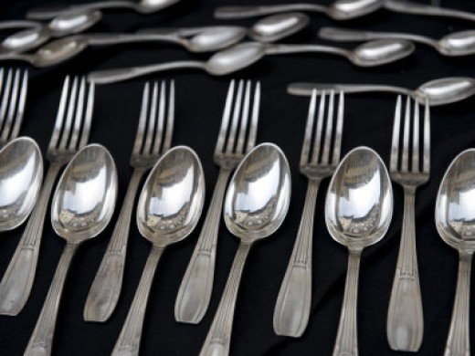 Silverware, Spoons and Forks Sold During the Monthly Antique Market, Keenpress