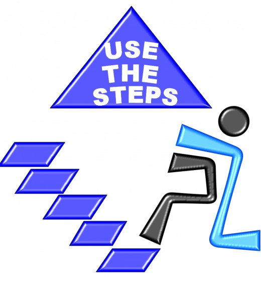Take the steps, put one foot in front of the other, one step at a time.