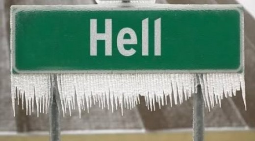 Hell.....frozen over?