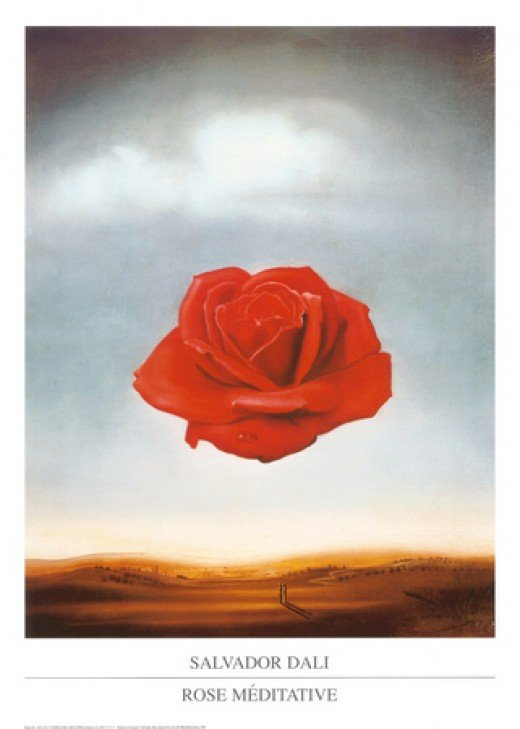 Rose méditative, c. 1958, Salvador Dalí