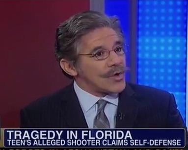 Geraldo says an African American kid wearing a hoodie is reason enough to shoot him