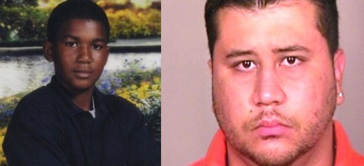 Trayvon Martin (left); George Zimmerman (right)