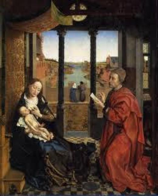 St Luke Portraying the Virgin ~ Weyden