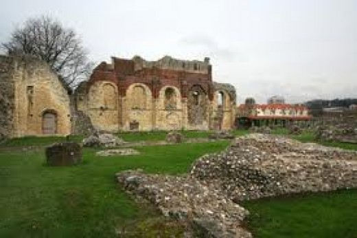 monastery ruins of St Johns Catherdral